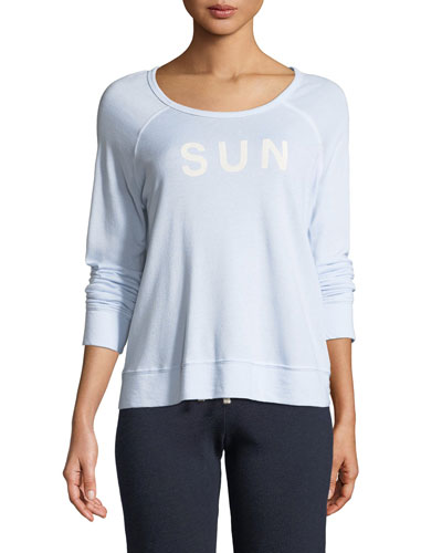 Sunrise Cropped Graphic Pullover