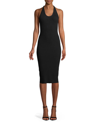 Twist Scoop-Neck Tank Midi Dress