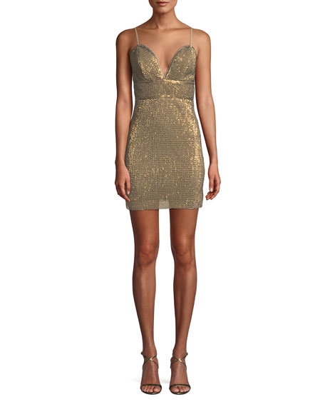 Saylor Frankie Sequin Mini Dress