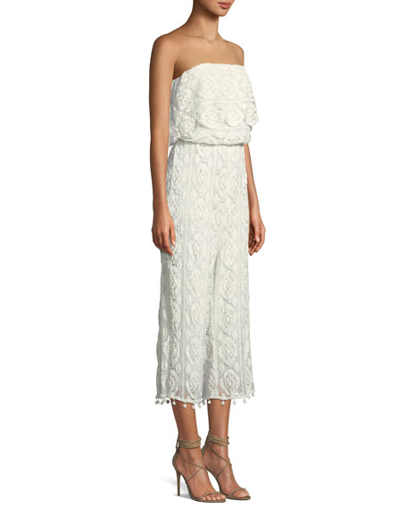 Kenzie Embroidered Crochet Lace Jumpsuit