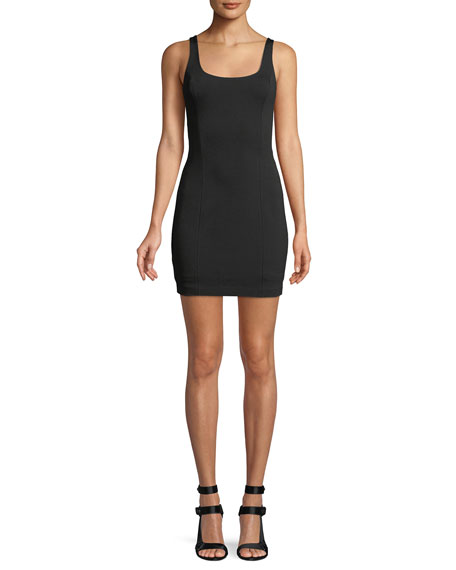 Misha Frankie Scoop-Back Mini Cocktail Dress