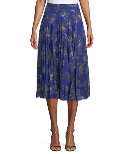 Stanwyck A-Line Pleated Skirt