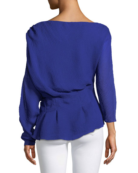 Garland Off-Shoulder Textured Top