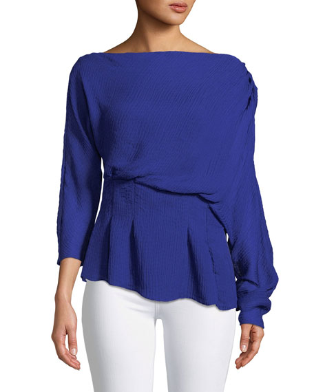 CAMILLA AND MARC Garland Off-Shoulder Textured Top