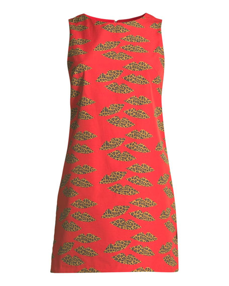 Clyde Cheetah Lips Mini Dress