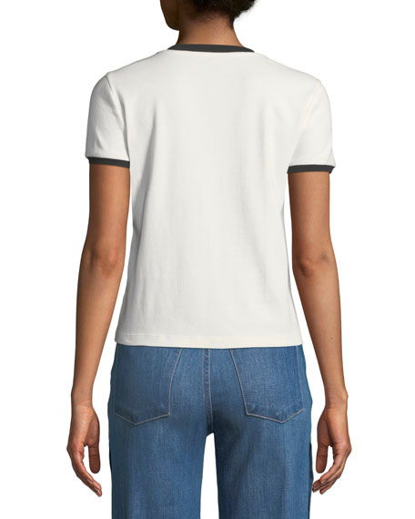 Rylyn Staceface Embroidered Ringer Tee