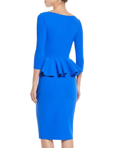 Dinara Peplum Sheath Cocktail Dress