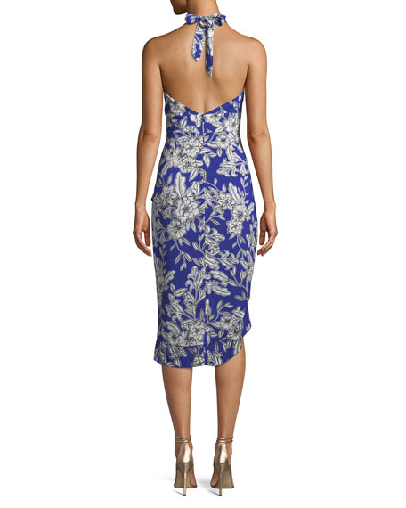 Petra Sleeveless Floral High-Low Dress