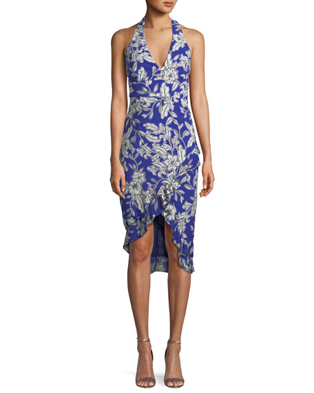 Bardot Petra Sleeveless Floral High-Low Dress