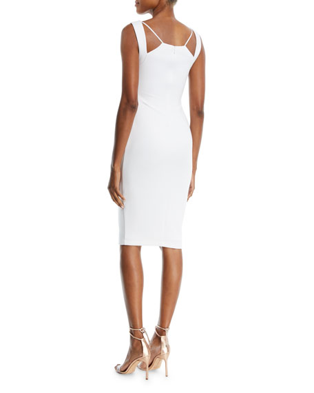 Lal Mirch Cutout-Neck Midi Sheath Dress