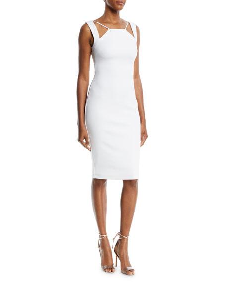 Lal Mirch Cutout-Neck Midi Sheath Dress
