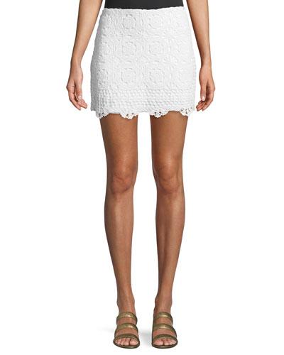 Sesame Crochet Mini Skirt