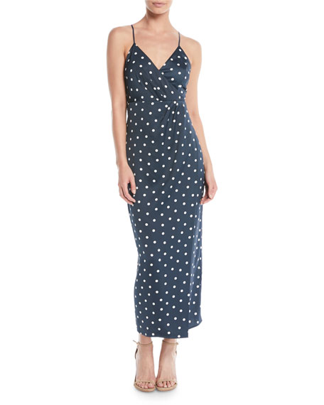 Bardot Spotty Dot-Print Sleeveless Wrap Dress