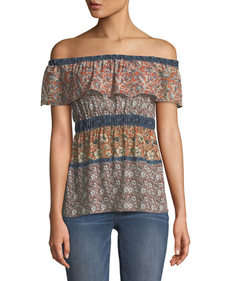Bailey 44 Sri Lanka Off-the-Shoulder Floral Top