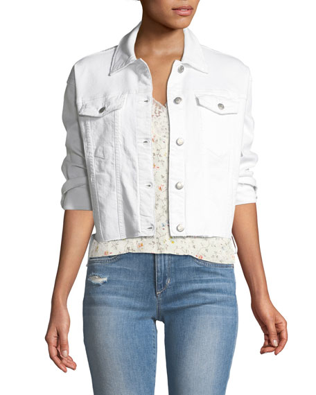 The Boyfriend Lace-Up Denim Jacket