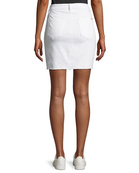 High-Low Denim Pencil Skirt