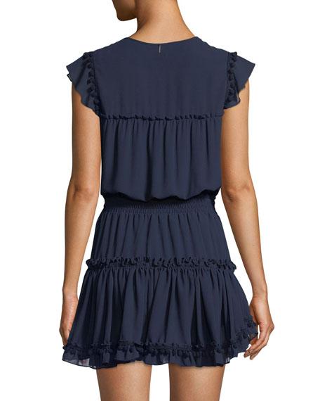 Aryana Short-Sleeve Ruffle Mini Dress
