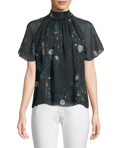 CAMILLA AND MARC Arlen Short-Sleeve Silk Top