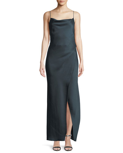 Bowery Cowl-Neck Slip Gown