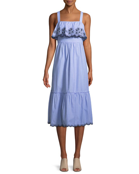 kate spade new york sleeveless daisy embroidered patio