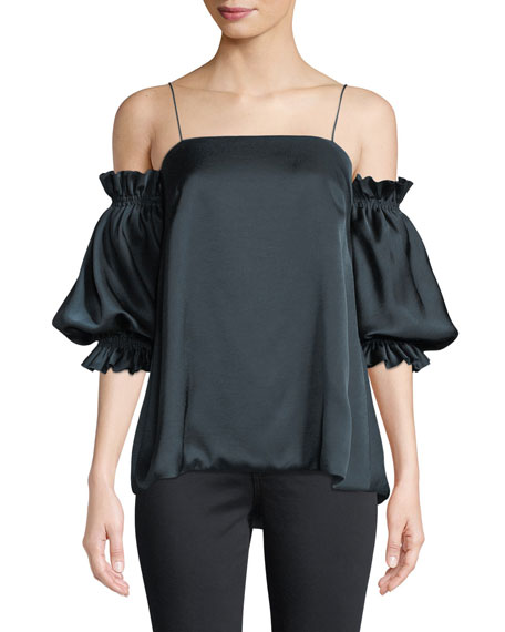CAMILLA AND MARC Garbo Cold-Shoulder Statement-Sleeve Top