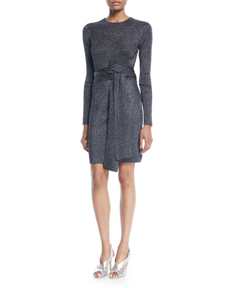 3.1 Phillip Lim Wrap-Waist Ribbed Long-Sleeve Dress