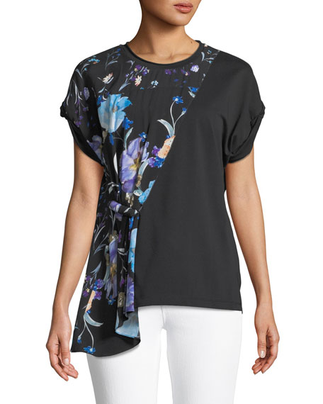 3.1 Phillip Lim Floral Combo Short-Sleeve Tee