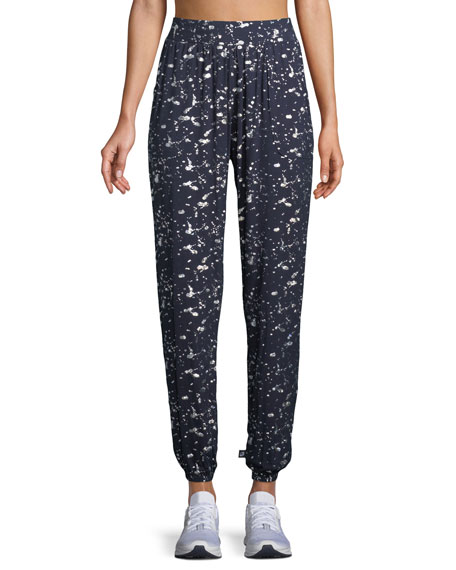 Splatter Foil Jogger Lounge Pants