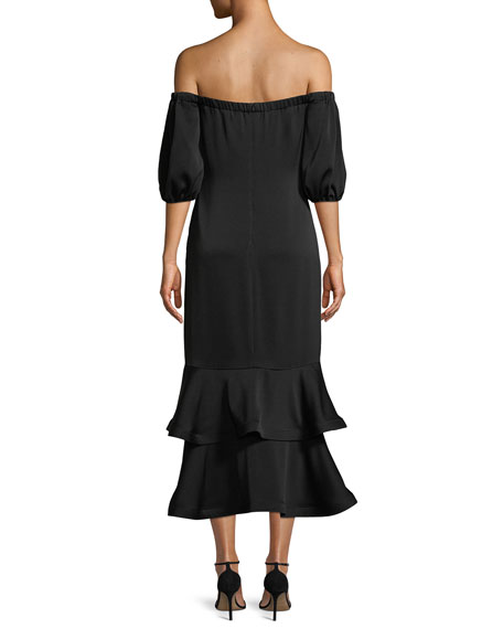 Aguilera Off-the-Shoulder Tiered Dress