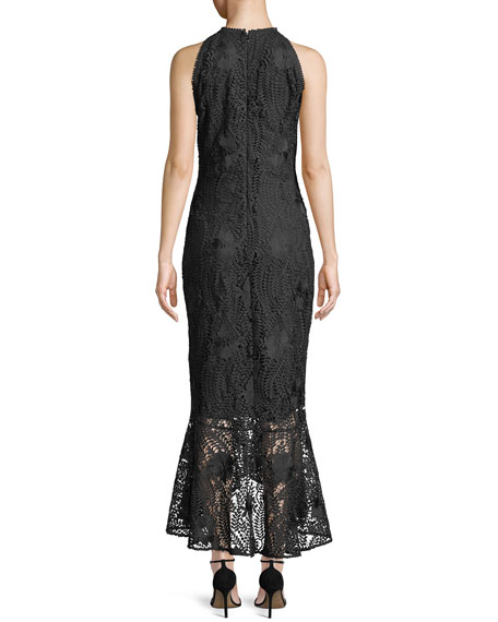 Carmina Guipure Lace High-Low Gown