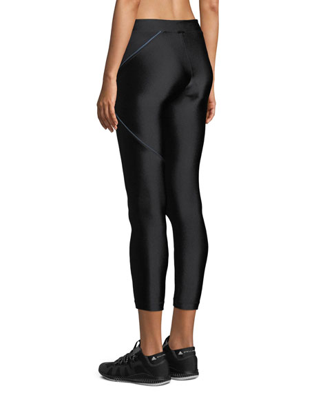 Knight Cropped Mid-Rise Performance Leggings