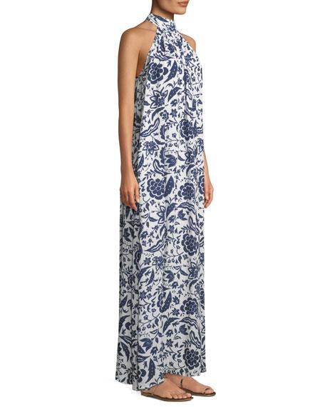 Martine Crinkled Halter Dress, Plus Size