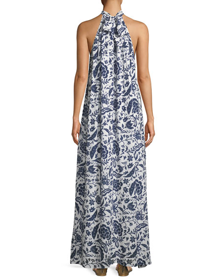 Martine Crinkled Halter Dress