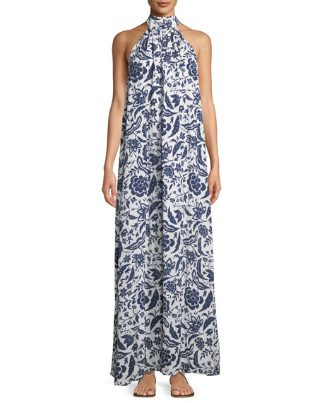 Rachel Pally Martine Crinkled Halter Dress