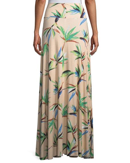 Long Full Paradise Printed Skirt