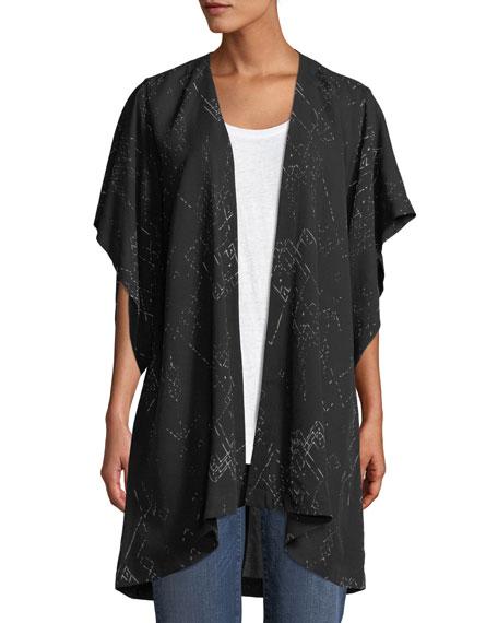 Marrakesh Printed Kimono Jacket, Plus Size