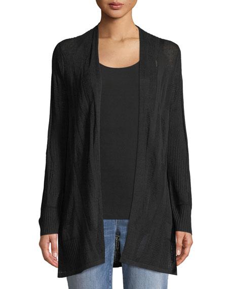 Fine Silk/Organic Linen Cardigan, Petite
