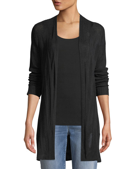 Eileen Fisher Fine Silk/Organic Linen Cardigan, Petite and