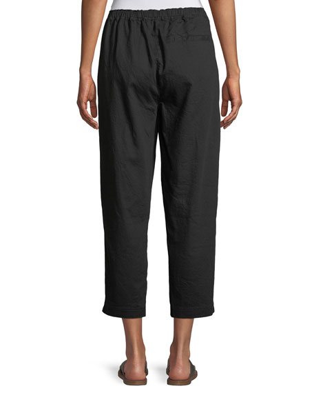 Soft Organic Twill Cropped Taper Pants, Plus Size