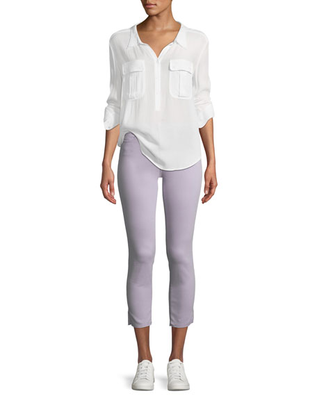 Prima Mid-Rise Cropped Skinny Jeans