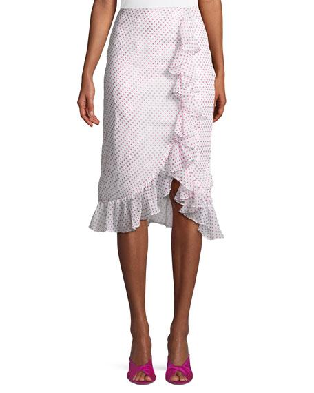 Lovers And Friends Suffolk Dot-Print Flounce Skirt