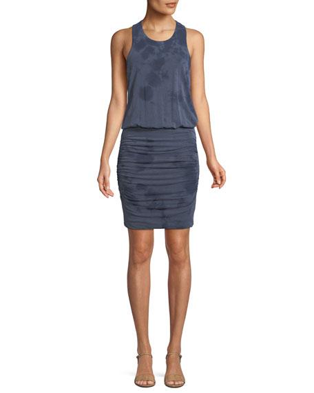 Ruched Sleeveless Blouson Mini Dress