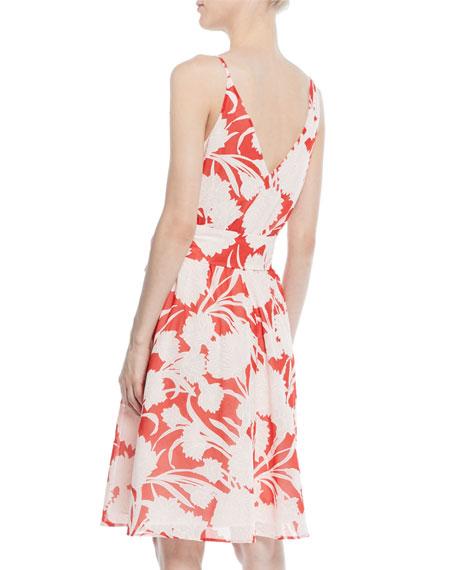 Nahala Sleeveless Floral-Print Dress