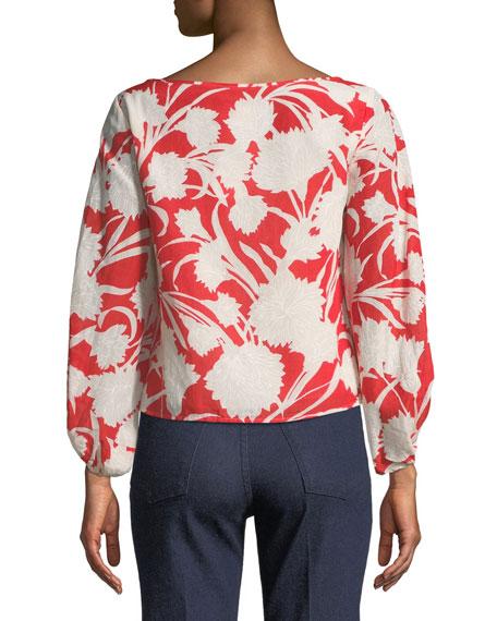 Valterra Floral-Print Long-Sleeve Blouse