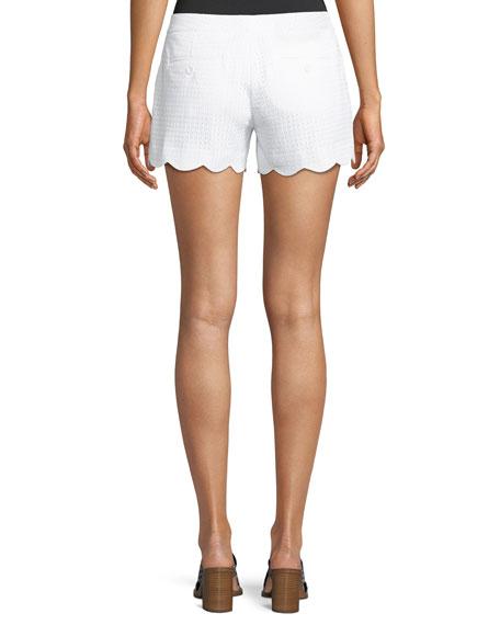 Amber Eyelet Scalloped Shorts