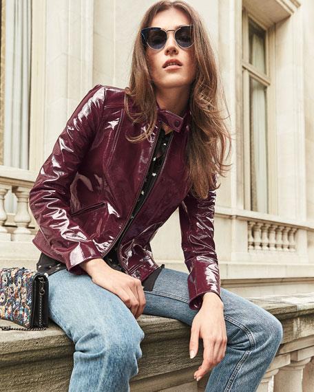 Patent Leather Moto Jacket