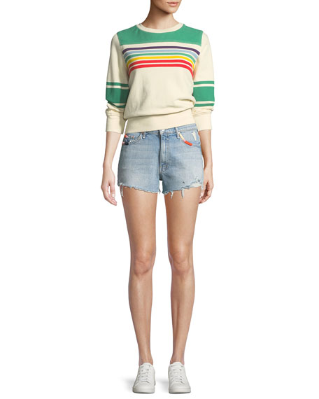 Easy Does It Frayed Denim Shorts