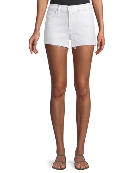 Charmer Frayed Cotton-Blend Shorts
