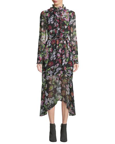 Palo Floral Symphony Georgette Dress