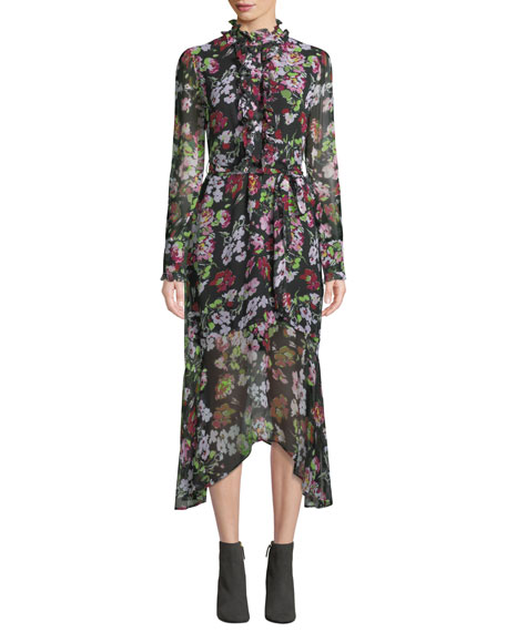Palo Floral Symphony Georgette Dress